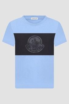 Moncler Enfant Boys Blue T-Shirt