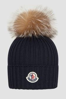Moncler Enfant Girls Navy Hat