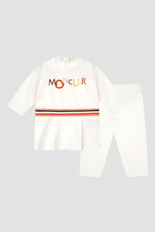 Moncler Enfant Baby Girls White Tracksuit