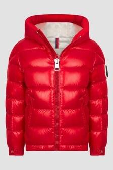 Moncler Enfant Boys Red Salzman Jacket