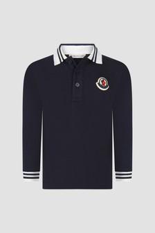 Moncler Enfant Baby Boys Navy Long Sleeve Polo Shirt