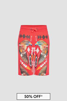 Marcelo Burlon Boys Red Shorts
