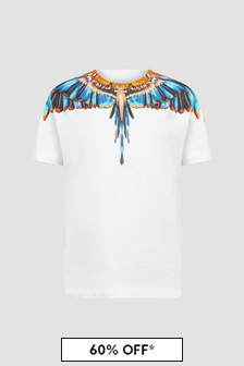 Marcelo Burlon Boys White T-Shirt