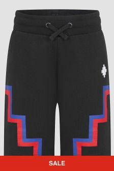 Marcelo Burlon Boys Black Shorts