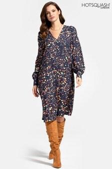 HotSquash V Neck Chiffon Loose Dress