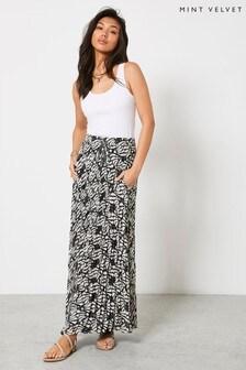Mint Velvet Womens Kyla Crinkled Maxi Skirt