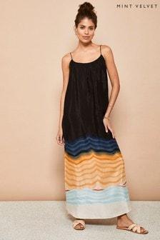 Mint Velvet Womens Lana Column Maxi Sun Dress