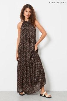 Mint Velvet Womens Demi Floral Tiered Maxi Dress