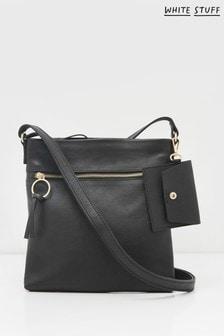 White Stuff Lottie Leather Cross Body Bag