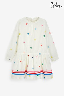 Boden Embroidered Woven Dress