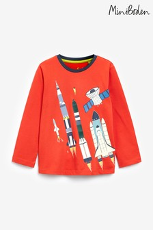 Boden Red Glowing Rocket T-Shirt