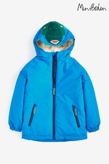 Boden Blue Cosy Sherpa-lined Anorak