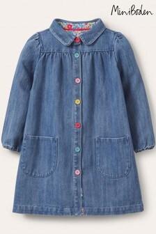 Boden Blue Collared Woven Dress