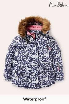 Boden Older Girls Blue All-Weather Waterproof Jacket
