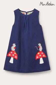 Boden Cord Appliqué Pinafore Dress