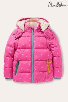 Boden Pink Cosy Two-In-One Padded Jacket