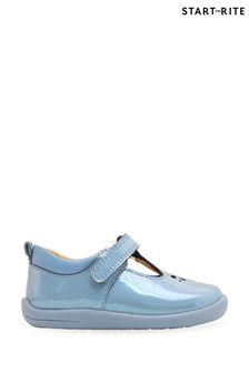 Start-Rite Puzzle Blue Glitter T-Bar First Shoes