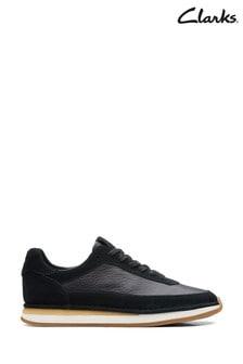 Clarks Black Combi CraftRun Lace Shoes