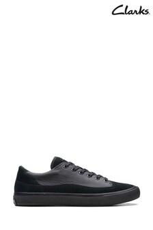 Clarks Black Leather Aceley Lo Shoes