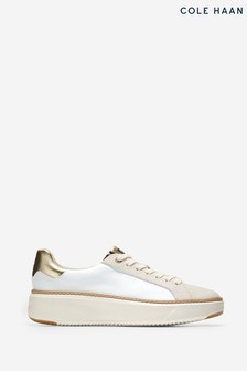 Cole Haan White Grandpro Topspin Trainers