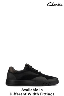Clarks Black Suede Cica Skater Trainers