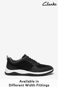 Clarks Black Combi Puxton Run Shoes