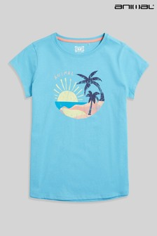 Animal Girls Pale Blue Sienna Beach Love Organic T-Shirt