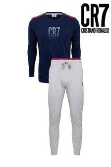 CR7 Mens Long Sleeve Pyjama Set