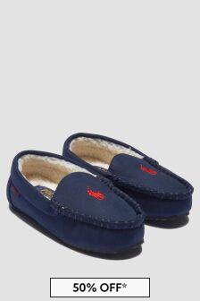 Ralph Lauren Kids Boys Navy Slippers