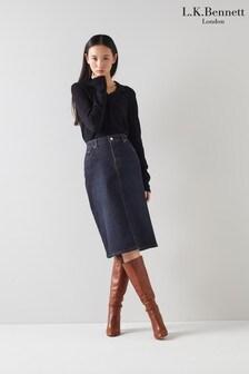 L.K.Bennett Willow Denim Skirt