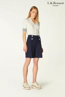 L.K.Bennett Hillier Cotton Tailored Shorts