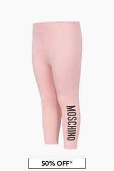 Moschino Kids Baby Girls Pink Leggings