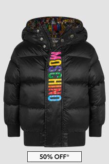 Moschino Kids Unisex Black Jacket