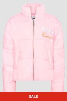 Moschino Kids Girls Pink Jacket