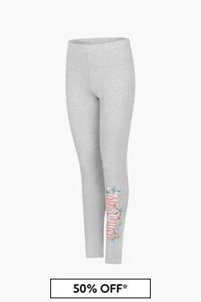 Moschino Kids Girls Grey Leggings