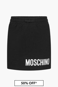 Moschino Kids Girls Black Skirt
