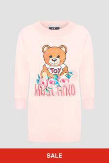 Moschino Kids Girls Pink Dress