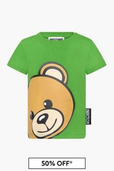 Moschino Kids Baby Boys Green T-Shirt