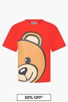 Moschino Kids Unisex Red T-Shirt