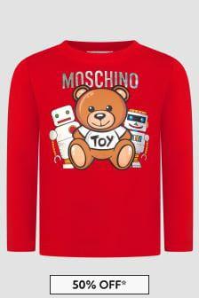Moschino Kids Boys Red T-Shirt