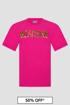 Moschino Kids Girls Pink T-Shirt