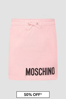 Moschino Kids Girls Pink Skirt