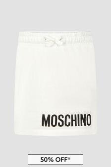 Moschino Kids Girls White Skirt