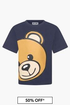 Moschino Kids Boys Navy T-Shirt