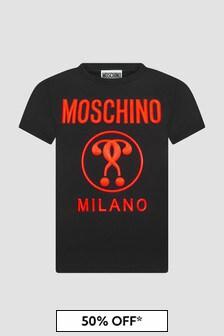 Moschino Kids Unisex Black T-Shirt