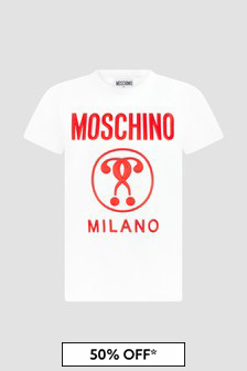 Moschino Kids Unisex White T-Shirt