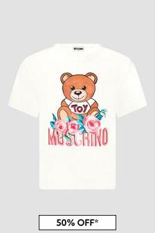 Moschino Kids Girls White T-Shirt
