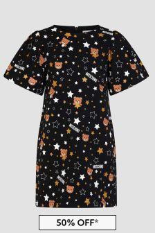 Moschino Kids Girls Black Dress