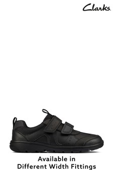 Clarks Black Leather Shoes