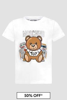 Moschino Kids Baby Boys White T-Shirt